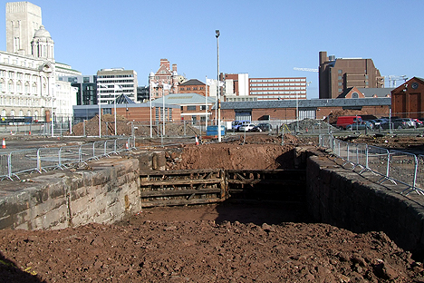 Excavations in 2007 revealed 200-year-old dock gates
