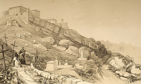 Henry Wilkinson's 1838 sketch of the site