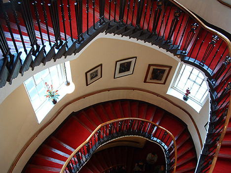 Athenaeum staircase: it's an elliptical thing