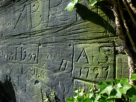 'AS' leaves his/her mark upon St James Cemetery