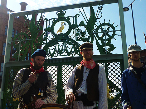 Jack Tars and Dicky Sams guard the gates