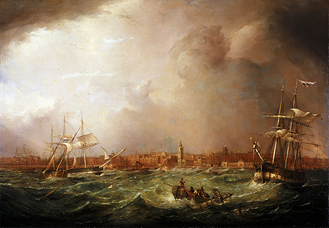 As Herman Melville would've seen it: The Port of Liverpool 1836 by Samuel Walters, part of the large collection of marine art in Merseyside Maritime Museum