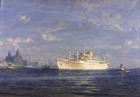 <i>Aureol in the Mersey</i> by John Stobart courtesy National Museums Liverpool