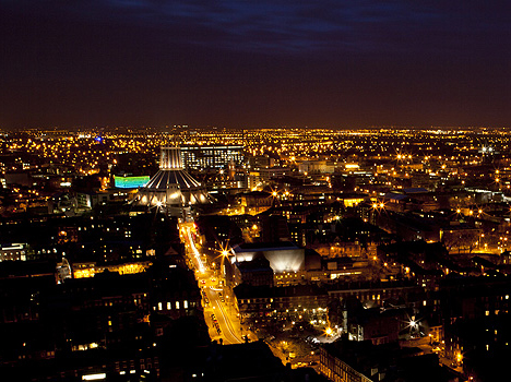 The City of Liverpool, from the Anglican Cathedral