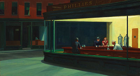 <i>Nighthawks</i>, 1942 (Edward Hopper) from Friends of American Art Collection, Art Institute of Chicago