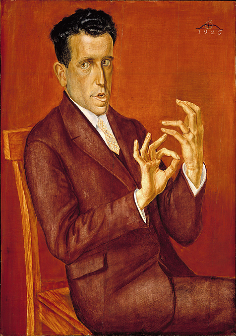 <i>Portrait of the Lawyer Hugo Simons</i>, 1925 (Otto Dix) Montreal Museum of Fine Arts